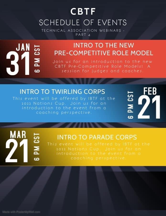 Calendrier Competition Twirling Baton 2022 CBTF winter calendar of events « obtamembersblog.com